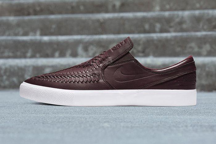 Nike Sb Zoom Stefan Janoski Woven Slip Rm Maroon Release Date Lateral
