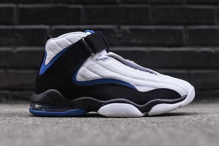 Nike Air Penny Iv White Black Atlantic Blue Thumb