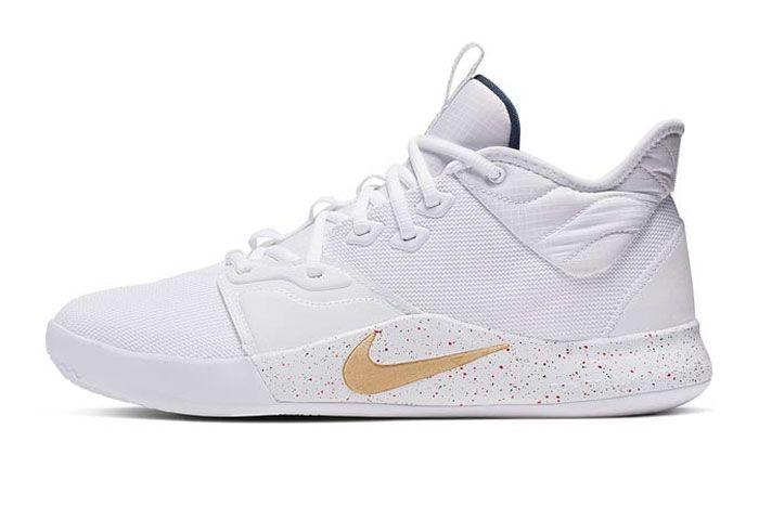 Nike Pg3 White Gold Right