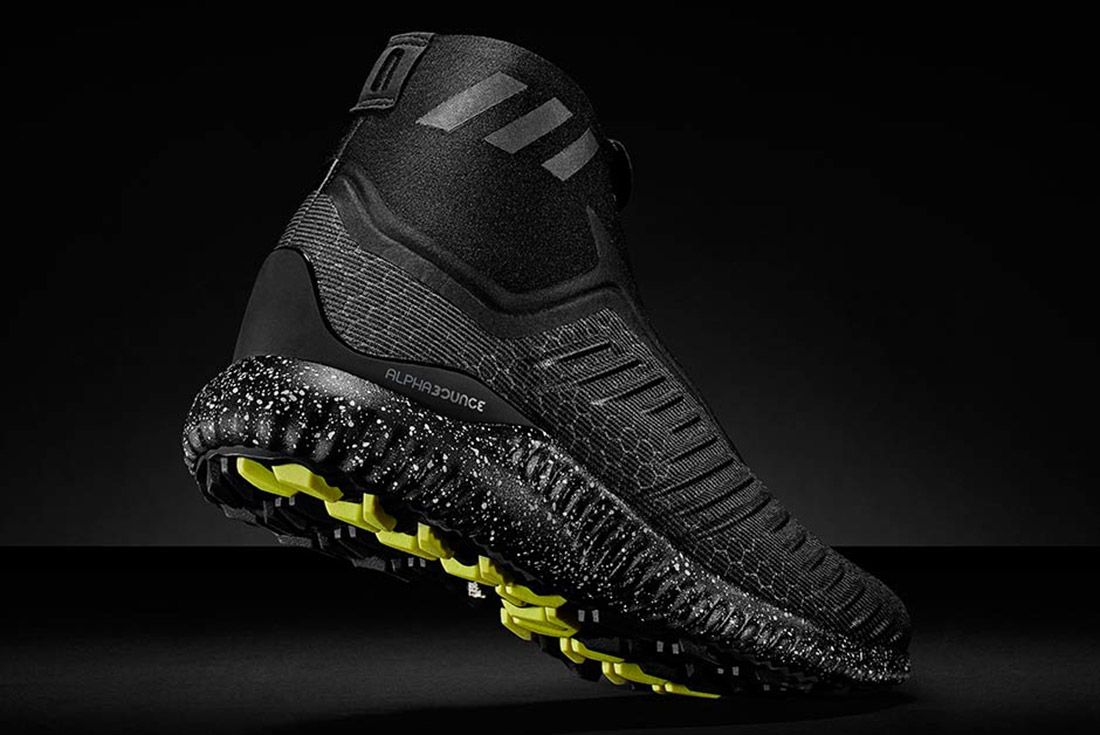 Adidas Alphabounce Mid Zip Black 3
