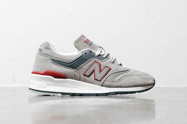 New Balance 997 Grey Red 3