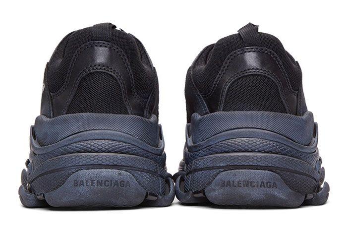 Balenciaga Triple S Sneaker Smudged Distressed Colorway 3 Heel