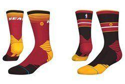 Thumb Miami Heat Stance Nba Sock Design