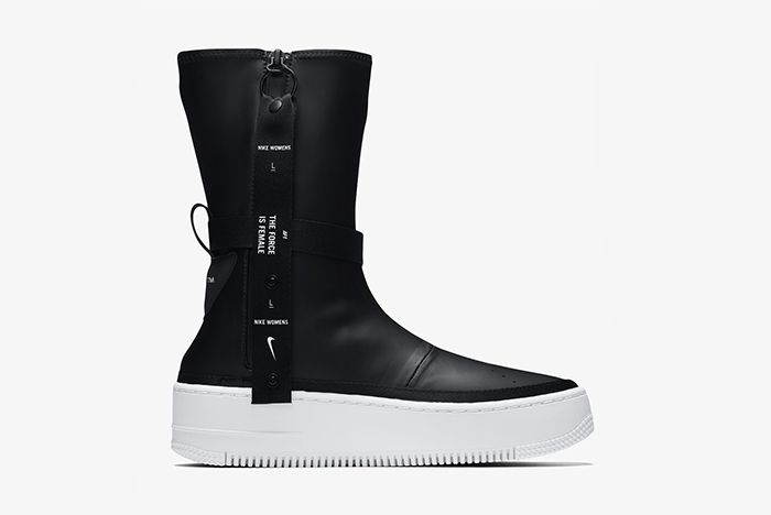 Nike Air Force 1 Sage Hi Black White 2