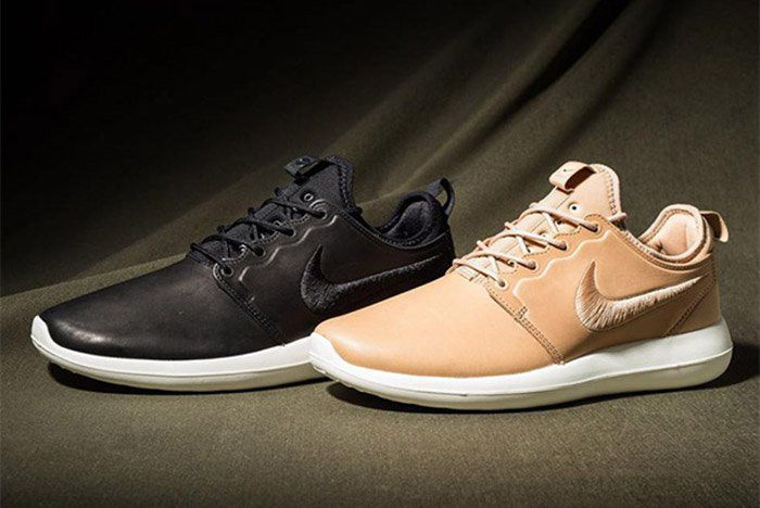 Nike Roshe Two Premium Leather Tan Black 1