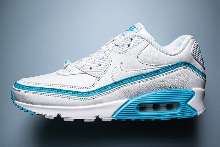 Undefeated Nike Air Max 90 White Left Sideshot