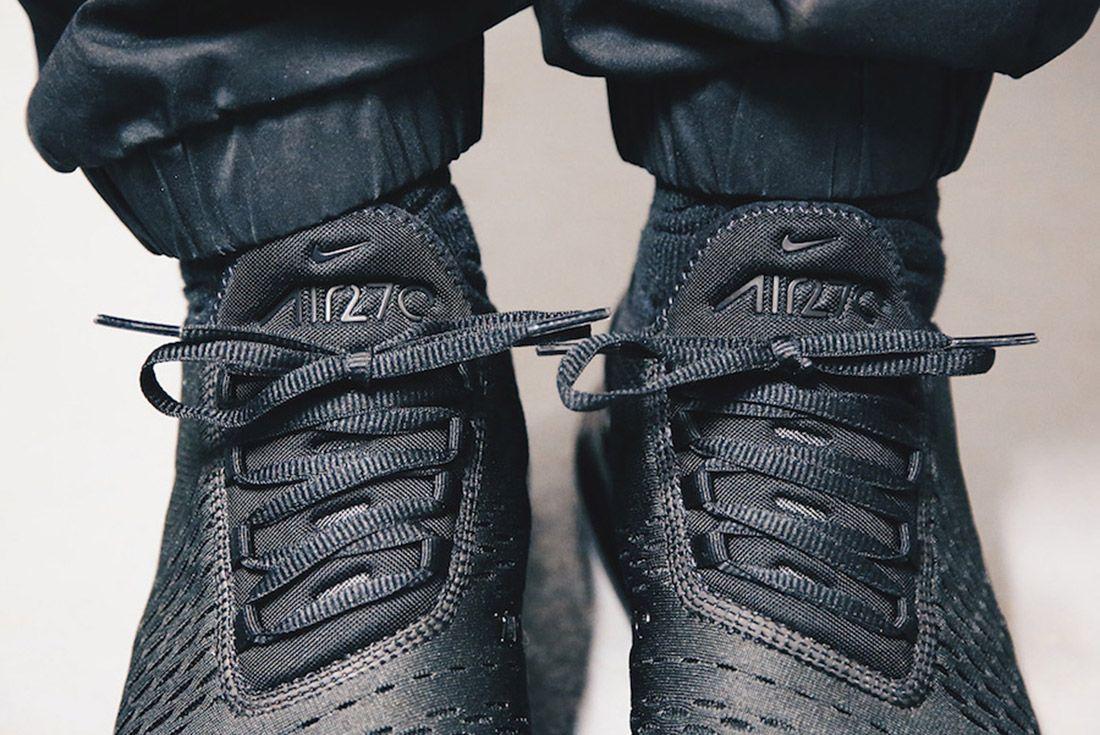 4Nike Air Max 270 Triple Black Release Date Sneaker Freaker