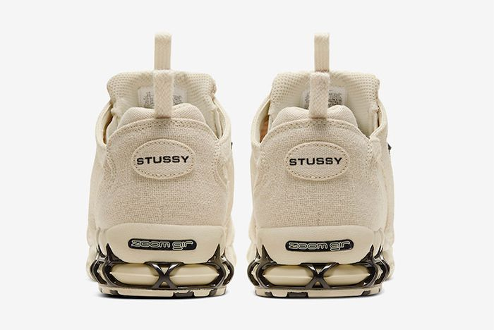 Stussy Nike Air Zoom Spiridon Caged Fossil Heel
