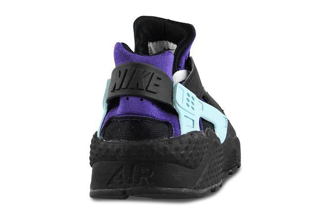 Nike Air Huarache Black Court Purple
