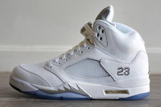 Jordan 5 White Metallic 2