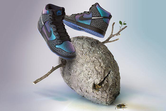Black Sheep Nike Sb Dunk Black Hornet Side Shot