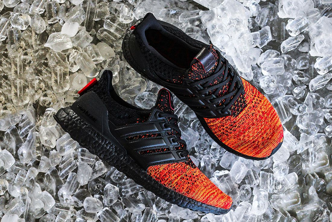 Game Of Thrones Ultra Boost Red Black Side Pair