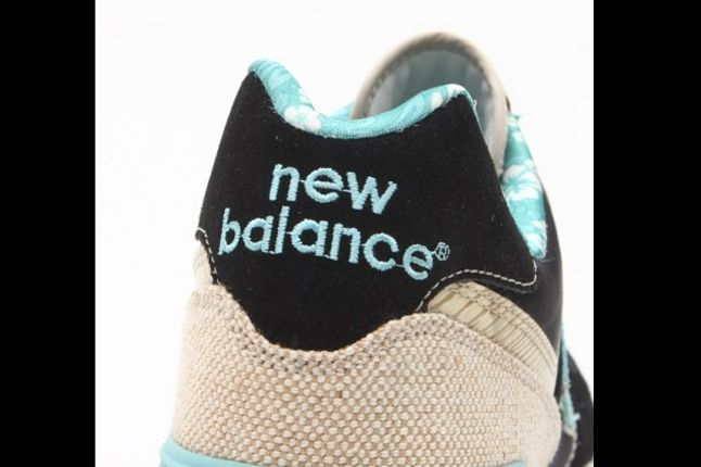 New Balance 574 Floral Hemp Pack Baby Blue And Navy Heel 1
