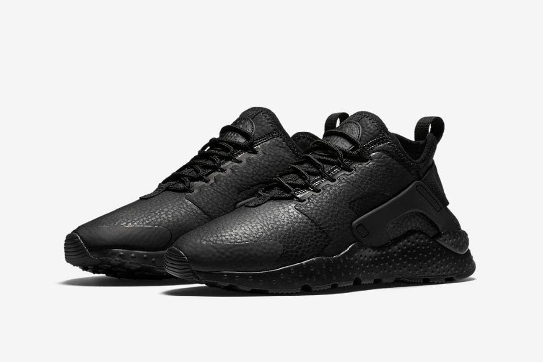 Nike Huarache Premium Womens Beautiful Powerful Black 4