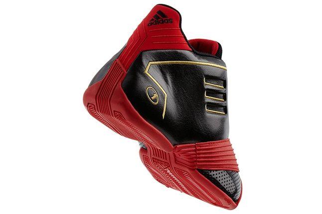 Adidas T Mac Black Light Scarlet Lateral Angle 1