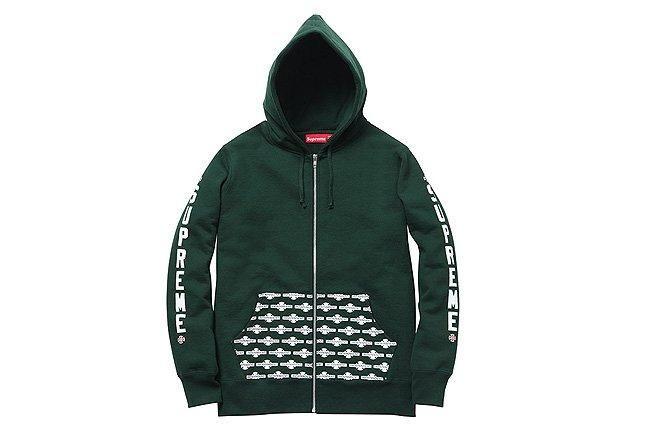 Supreme Green Zip Hoodie 1