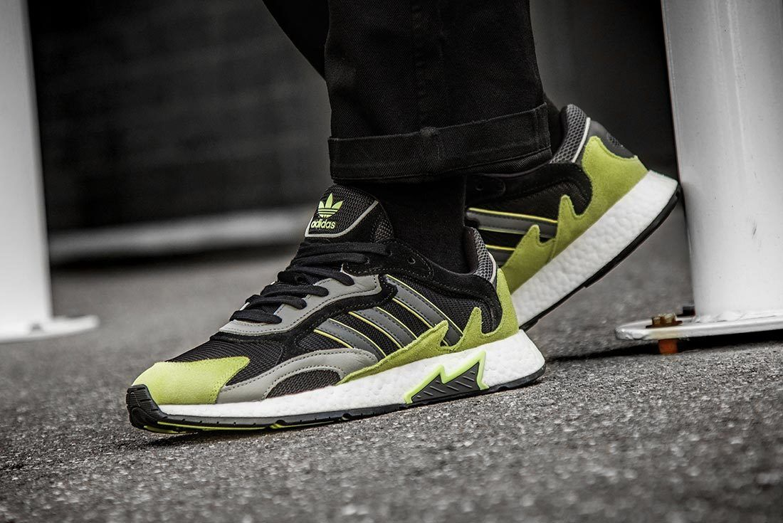 Green Adidas Tresc Run Side And Heel Shot
