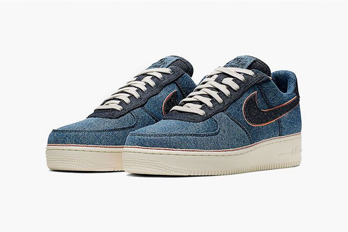 Nike 3 X 1 Air Force 1 Blue Front