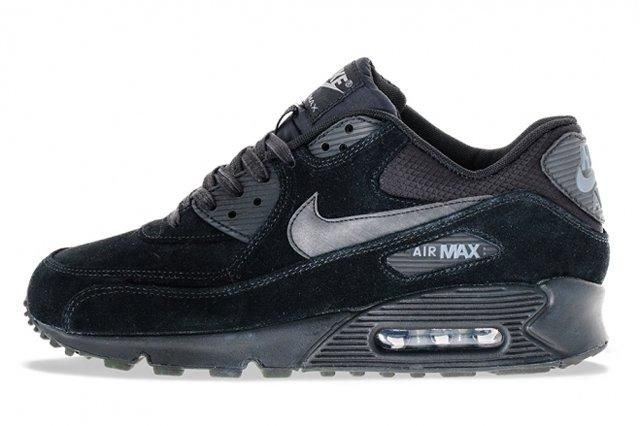 Nike Air Max 90 Suede Black Profile