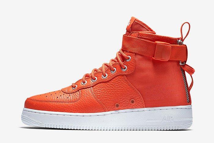 Nike Sf Air Force 1 Mid Team Orange 6