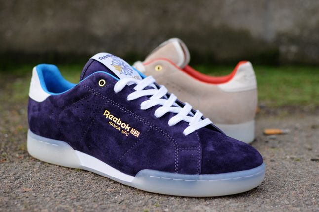Reebok Hanon Store Npc Ii Newport Classic Purple Suede Quater 2012 1