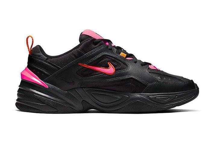 Nike M2K Tekno Black Pink Av4789 008 Lateral Side Shot