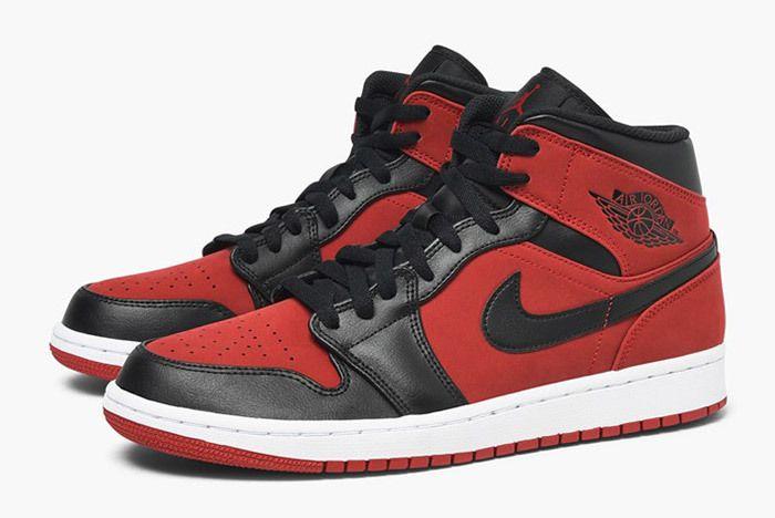 Jordan Air Jordan 1 Mid 554724 610 Gym Red Black White 6