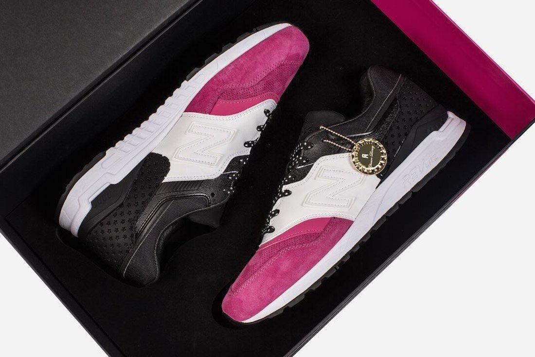 Phantaci New Balance 997 5 Pink White Black 1