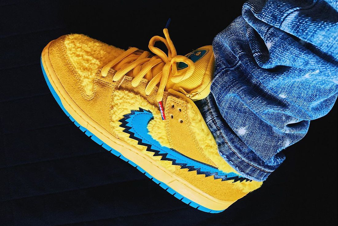 Grateful Dead Nike SB Dunk On Foot