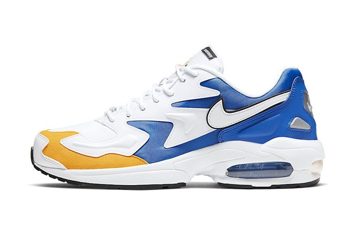 Nike Air Max2 Light Windbreaker Royal Maize Bv0987 102 Release Date Lateral