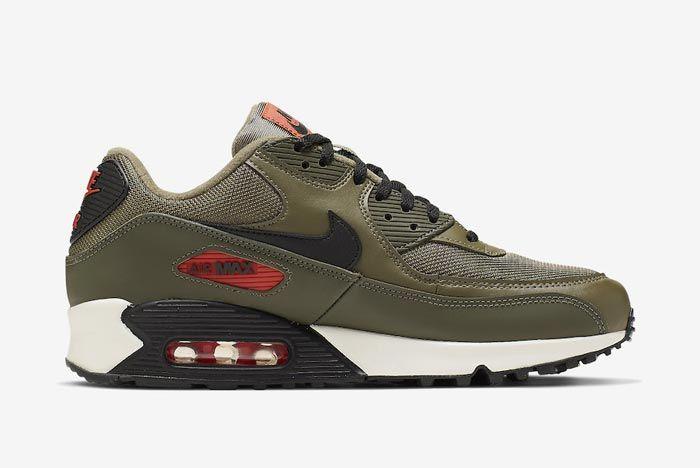 Nike Air Max 90 Essential Khaki Medial