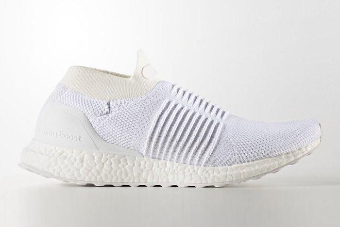 Adidas Ultra Boost Laceless White Beige2