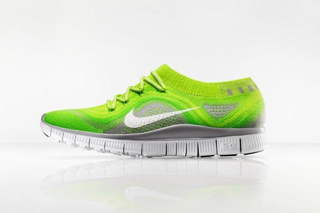 Nike Free Flyknit Neon Profile