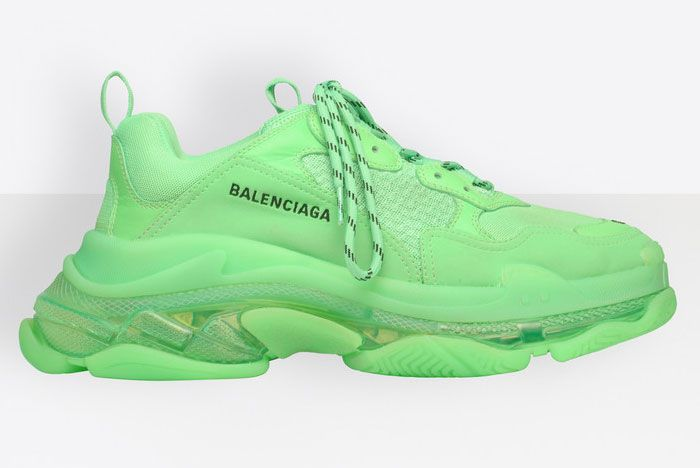 Balenciaga Triple S Neon Green Right