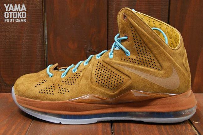 Nike Lebron X Brown Suede Profile 1