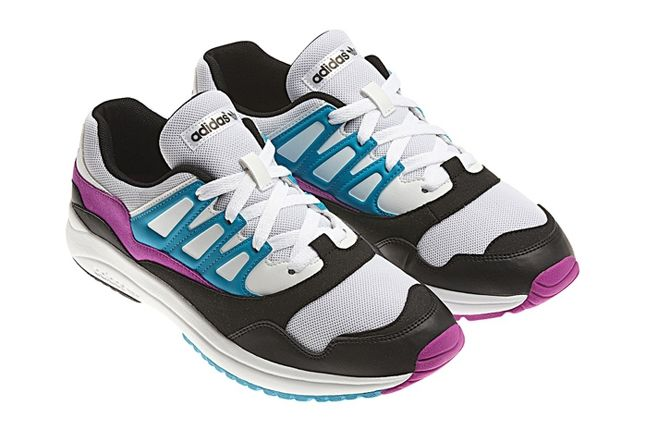 Adidas Torsion Allegra Grey Pink Blue Angle 1