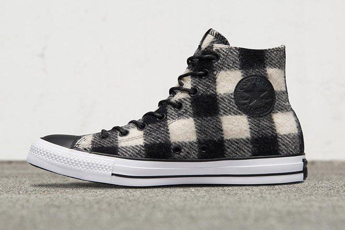 Woolrich Converse Chuck Taylor All Star High Black White 4