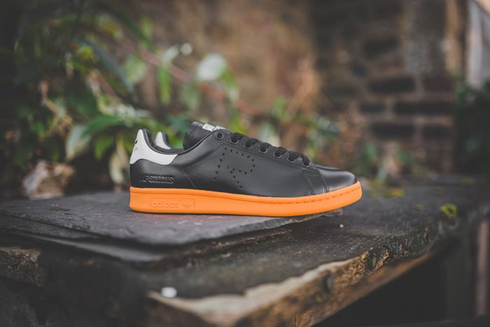 Raf Simons X Adidas Stan Smith Black Bright Orange 6