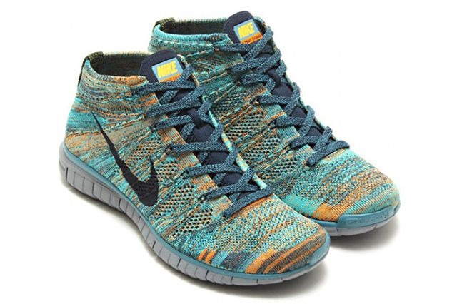 Nike Free Flyknit Chukka Mineral Teal 3