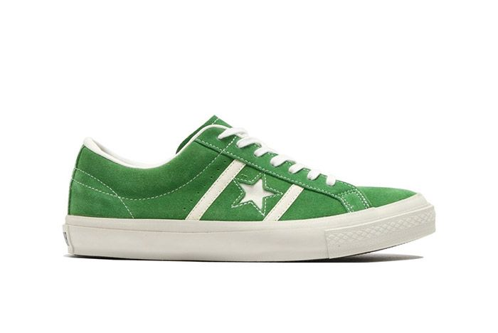 Converse Star And Bars Suede Green 1