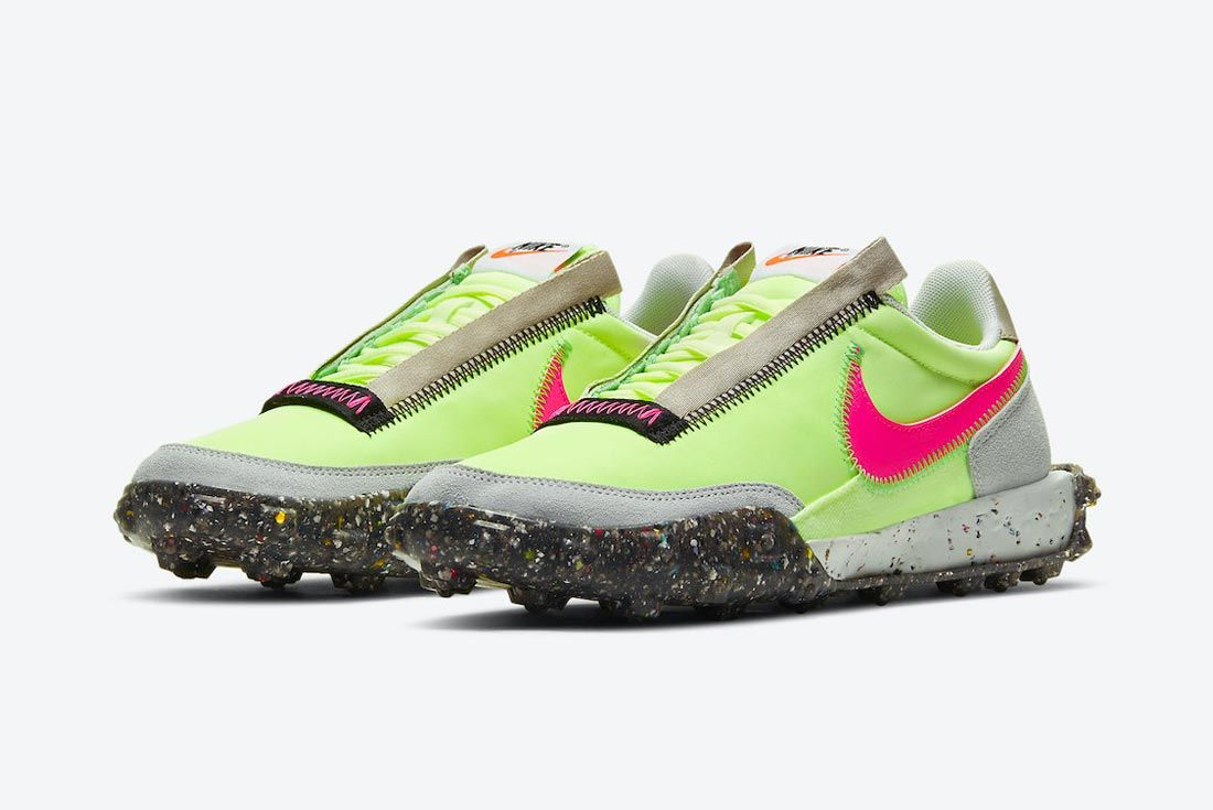 Nike Waffle Racer Crater 'Barely Volt/Pink Blast'