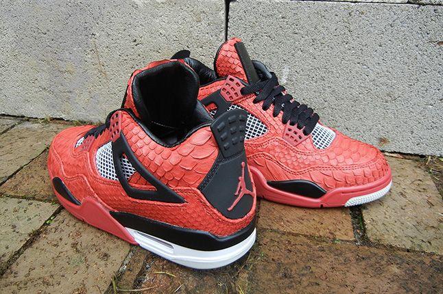 Jbf Customs Jordan Iv Fire Red Python 2 1