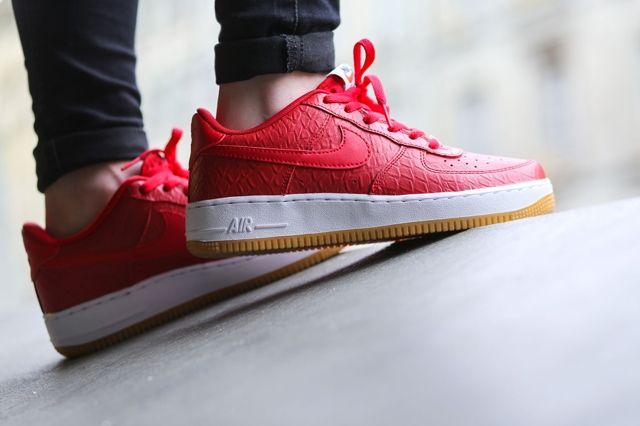 Nike Af1 University Red White Gum Bumper 3