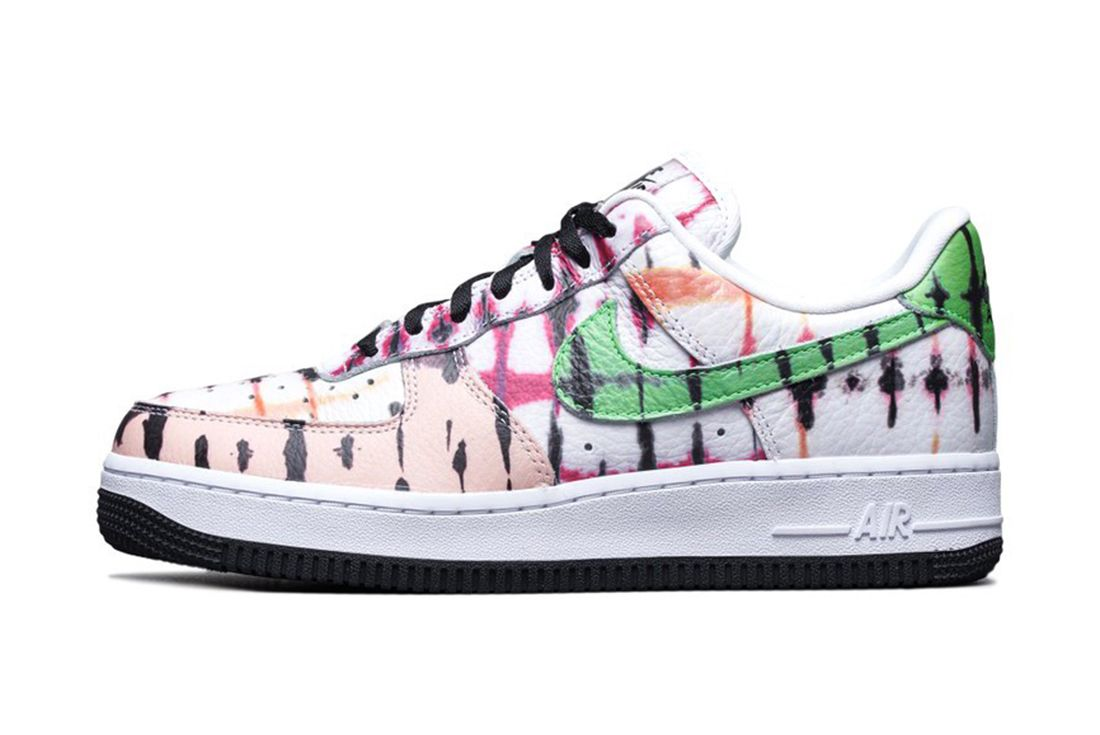 Nike Air Force 1 Black Tie Dye Left