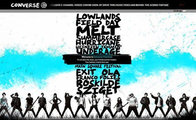 Converse Festivals Website 1