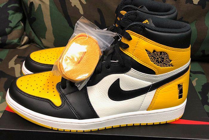 Shinedown Air Jordan 1 Attention Attention Yellow Black White Sneaker Freaker