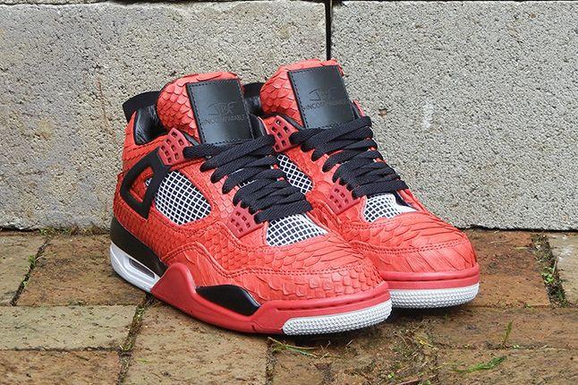 Jbf Customs Jordan Iv Fire Red Python 6 1