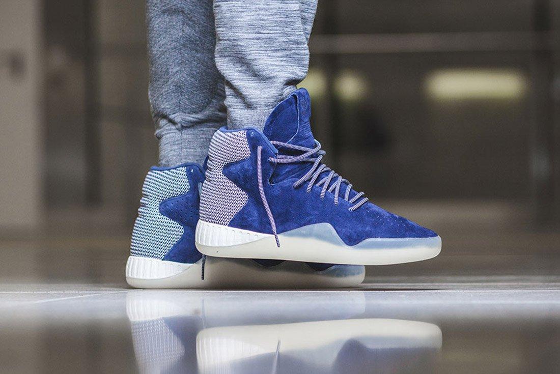 Adidas Tubular Instinct Dark Blue Off White 1
