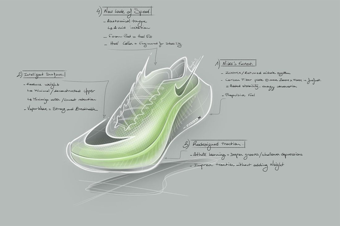 Sketch Nike Zoomx Vaporfly Next Percent Sinead Diver Interview Feature
