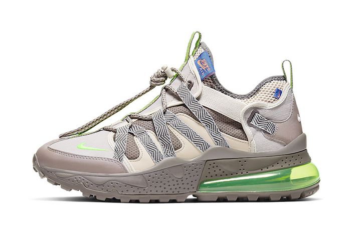 Nike Air Max 270 Bowfin Desert Sand Electric Green Aj7200 007 Release Date Lateral
